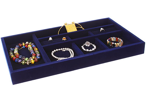 price blue velvet jewelry organizer inch
