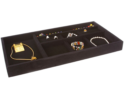 jewelry organizer tray black velvet in jewelry trays