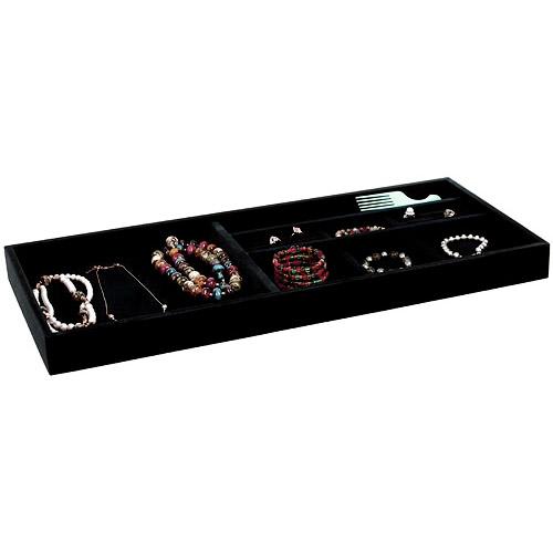 Black Velvet Jewelry Organizer 26375 Inch in Jewelry Trays