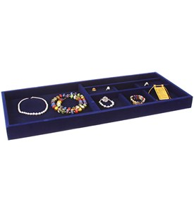 Blue Velvet Jewelry Organizer - 27.5 Inches Wide Image