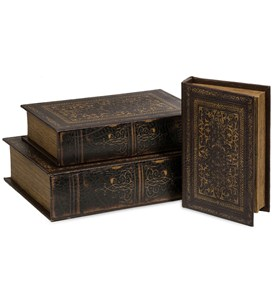 Old World Book Box Collection - Set of 3 by Imax Image