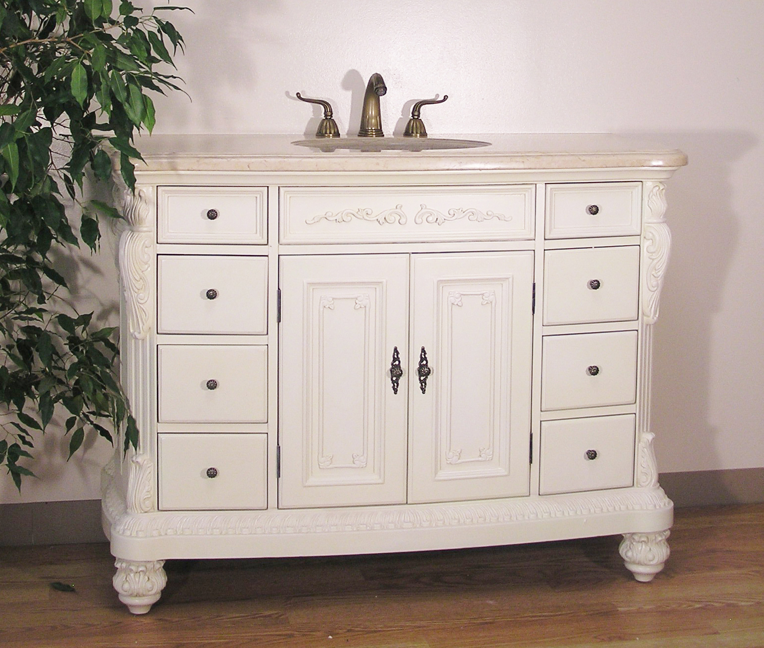Old World White Bathroom Vanity By Legion In Bathroom Vanities