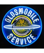 Oldsmobile Service Neon Sign - Silkscreen Backing by Neonetics