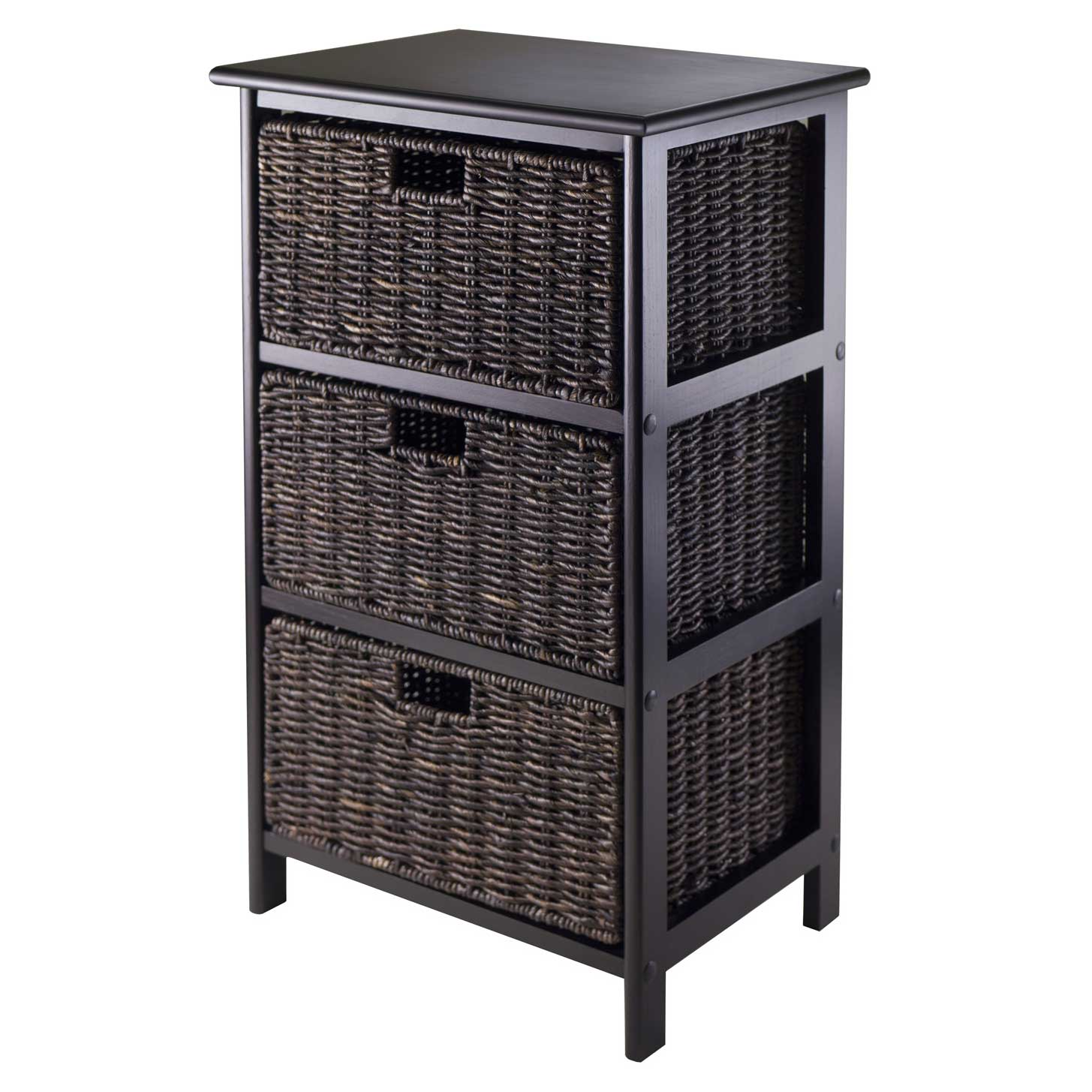 Omaha Storage Rack With 3 Baskets By Winsome In Shelves