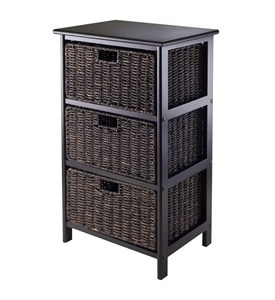 Omaha Storage Rack with 3 Baskets by Winsome Image
