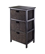 Omaha Storage Rack with 3 Baskets by Winsome