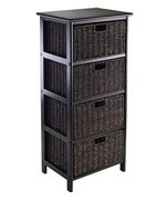 Omaha Storage Rack with 4 Baskets