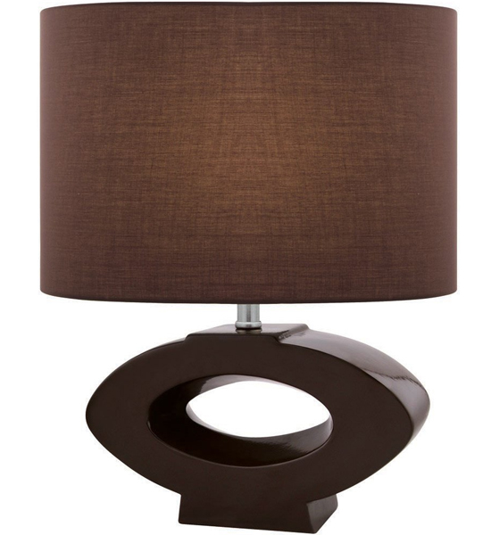 Captivating Open Faced Oval Table Lamp Image