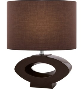 Open-Faced Oval Table Lamp Image