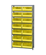 Open Hopper Storage Unit with 14 Bins by Quantum Storage Systems
