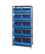 Open Hopper Storage Unit with 10 Bins by Quantum Storage Systems