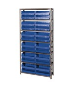 Open Hopper Storage Unit with 24 Bins by Quantum Storage Systems
