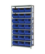 Open Hopper Storage Unit with 21 Bins by Quantum Storage Systems