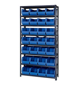 Open Hopper Storage Unit with 28 Bins by Quantum Storage Systems Image