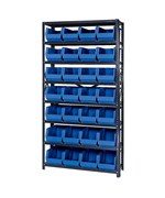 Open Hopper Storage Unit with 28 Bins by Quantum Storage Systems