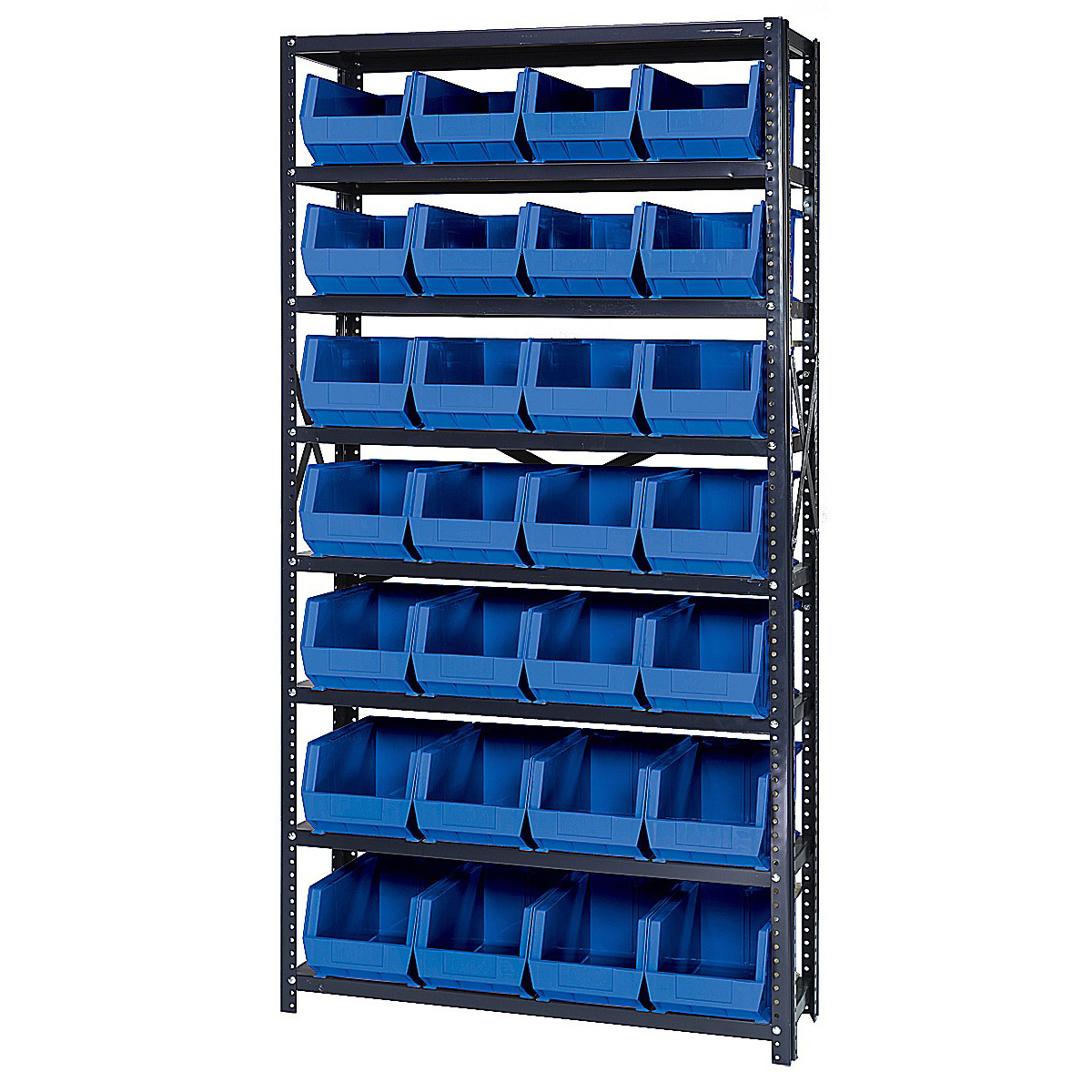 open hopper storage unit with 28 bins by quantum storage systems price