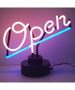 Open Neon Sculpture - by Neonetics
