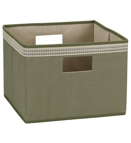 Open Storage Bin   Olive Green Image
