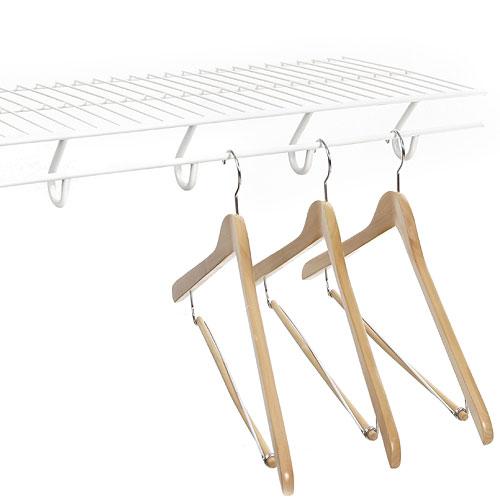 12 Inch Open Slide Closet Shelving - White in Wire Closet Shelving
