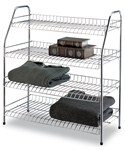 Organize It All 4 Tier Storage Shelf by Neu Home