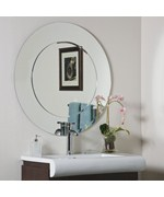 Oriana Modern Round Wall Mirror by Decor Wonderland