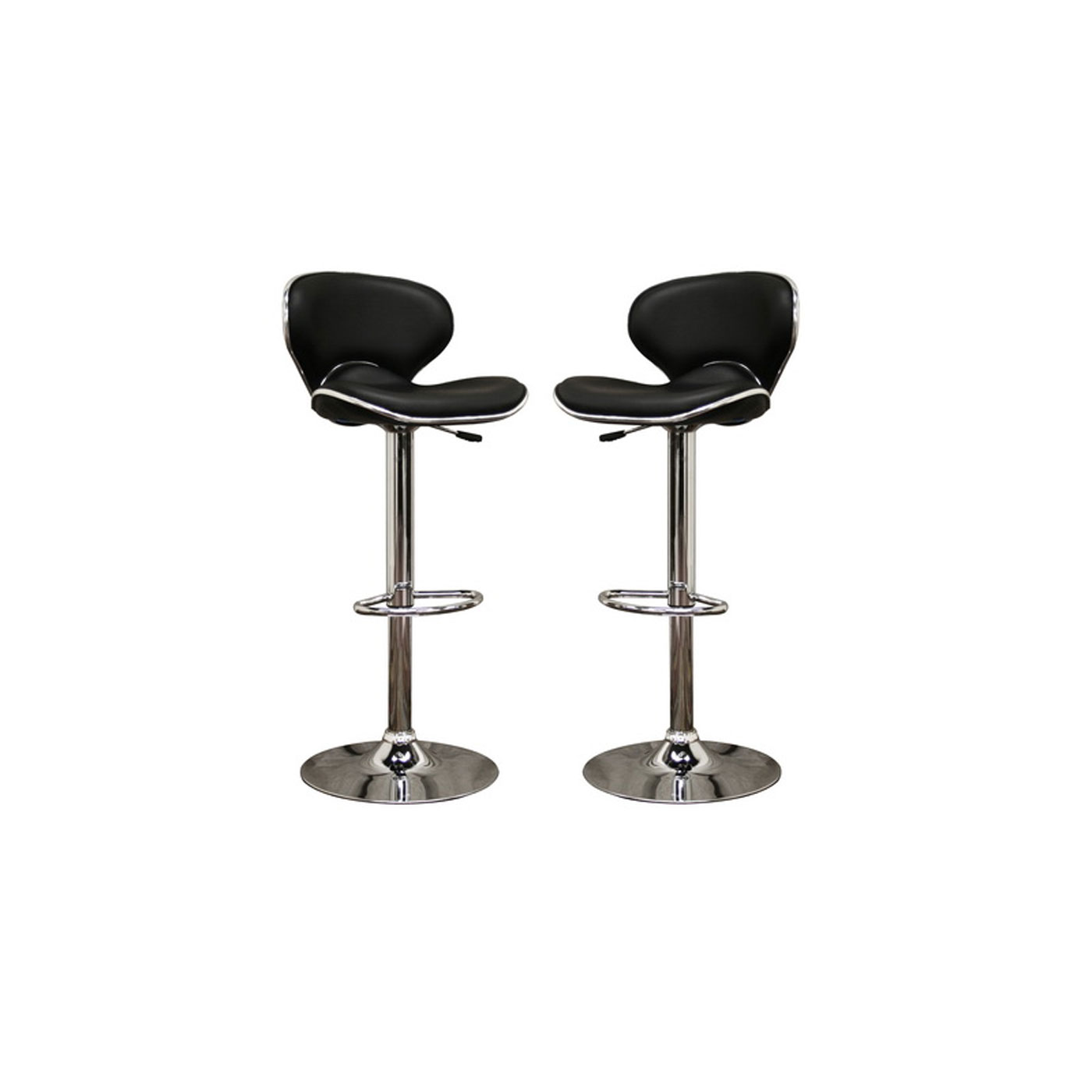 Orion Black Faux Leather Modern Bar Stool Set of 2 by  : orion black faux leather modern bar stool set of 2 by wholesale interiors from www.organizeit.com size 1400 x 1400 jpeg 59kB