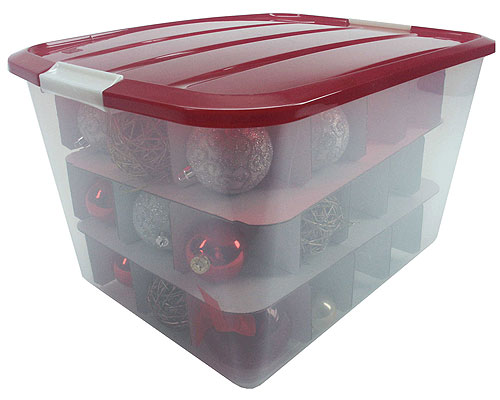 Iris ornament storage box large in ornament storage boxes for Xmas decoration storage boxes