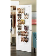 Over the Door Shoe Rack - White