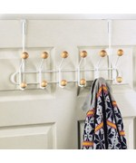 12 Hook Over the Door Coat Rack