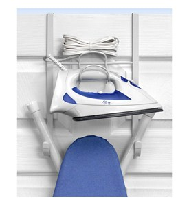 Over the Door Iron and Ironing Board Holder Image