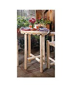 Outdoor Bistro Table and Bar Stools by Rustic Natural Ceder