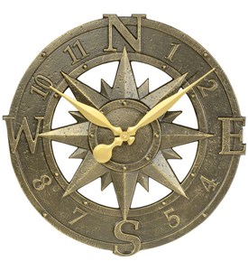 Outdoor Clock - Compass Rose Image