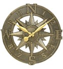 Outdoor Clock - Compass Rose