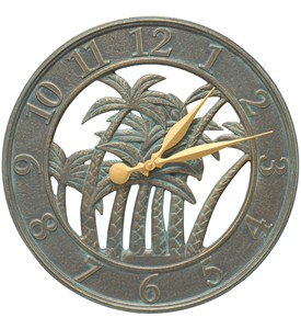 Outdoor Clock - Palm Tree Image