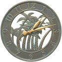 Outdoor Clock - Palm Tree