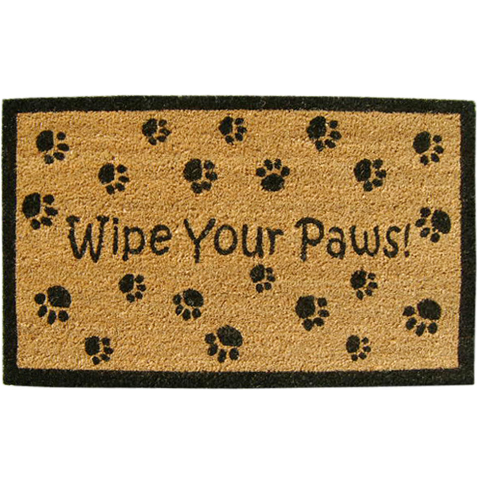 Welcome Mat Wipe Your Paws In Doormats