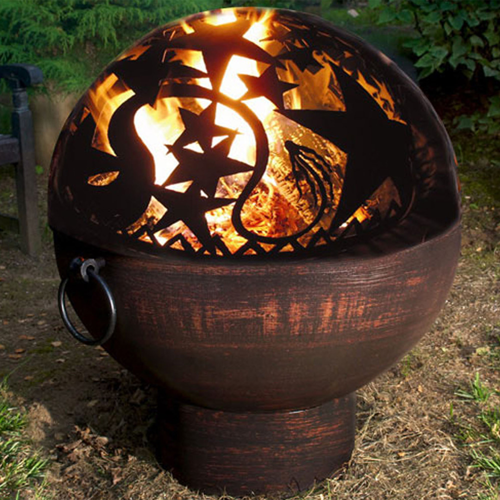 Outdoor fire bowl orion fire in fire pits for Boule metal deco jardin