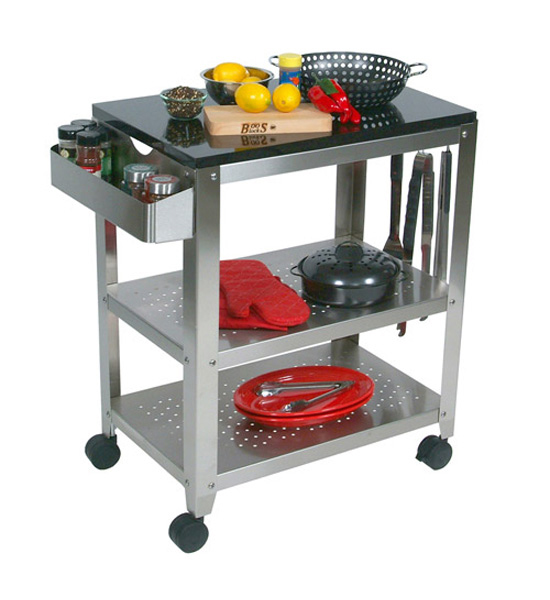 outdoor kitchen cart with granite top in kitchen island carts