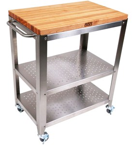 Outdoor Kitchen Cart with Wood Top Image