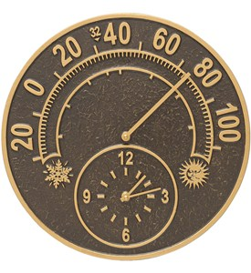 Outdoor Thermometer and Clock - Solstice Image