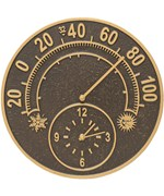 Outdoor Thermometer and Clock - Solstice