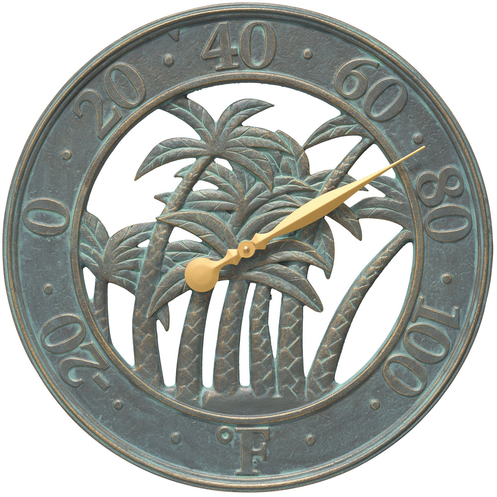 Outdoor Thermometer Palm Tree In Patio Thermometers