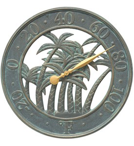 Outdoor Thermometer - Palm Tree Image