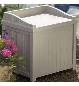 Outdoor Storage Box - Taupe Image