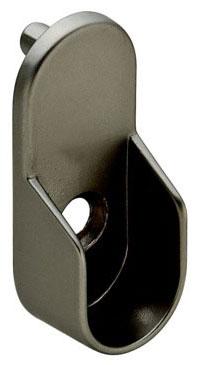 ... Oval Closet Rod Flanges   Matte Nickel