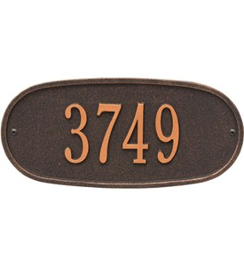 Oval Home Address Plaque Image