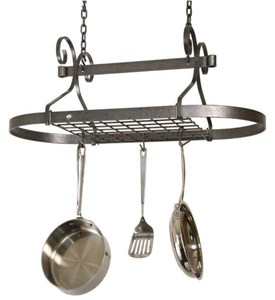 Oval Scroll Hanging Pot Rack Image