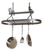 Oval Scroll Hanging Pot Rack
