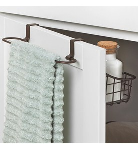 Over Cabinet Door Basket with Towel Bar Image