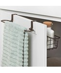 Over Cabinet Door Basket with Towel Bar